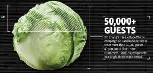 P.F. Chang's Facebook lettuce wrap coupon
