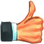 We Vote Thumbs Up
